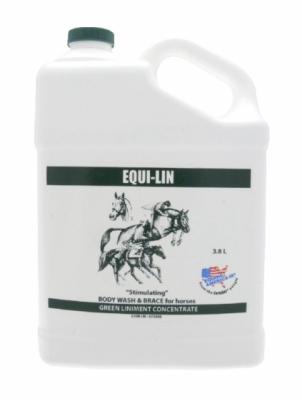 EQUINE AMERICA Equi-Lin - odświeżający i stymulujący płyn do mycia końskich mięśni 3,8 l