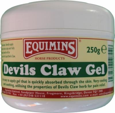 EQUIMINS Devil's Claw Gel - przeciwzapalny żel dla koni na bazie czarciego pazura 250 g