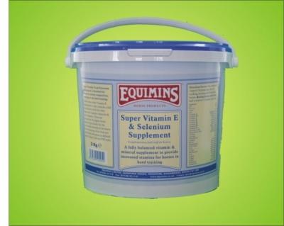 EQUIMINS Super Vitamin E & Selenium dla koni wyczynowych, o dużej zawartości witaminy E -3kg