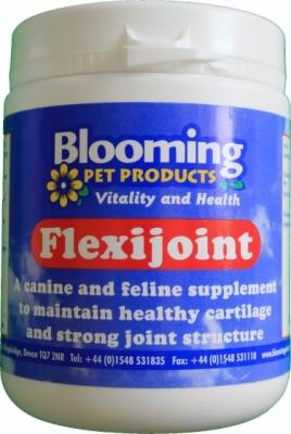 BLOOMING Flexijoint Powder - dodatek mineralno - witaminowy wspomagający i regenerujący stawy, dla psów i kotów 300 g