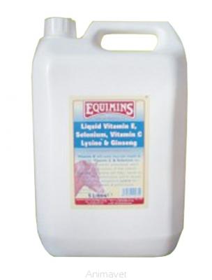 EQUIMINS Vitamin E, Selenium, Witamin C, Lysine, & Ginseng Liquid 5 l