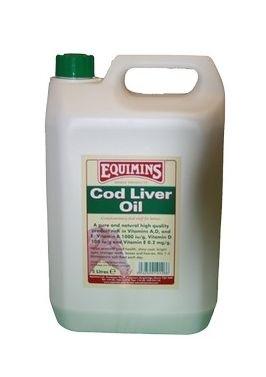 EQUIMINS Cod Liver Oil - olej z wątroby dorsza - tran 5 l