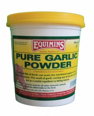 EQUIMINS Pure Garlic Powder - czosnek dla koni w proszku 500 g