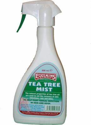 EQUIMINS Tea Tree Mist Trigger Spray - spray z wyciągiem z drzewa herbacianego zwalczający infekcje skórne 500 ml