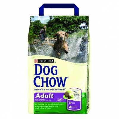 PURINA Dog Chow Adult z jagnięciną i ryżem 3000 g
