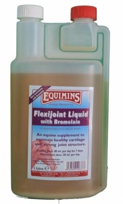 EQUIMINS Flexijoint Liquid with Bromelain - dodatek mineralno - witaminowy w płynie, wspomagający i regenerujący stawy z dodatkiem bromelainy 2500 ml