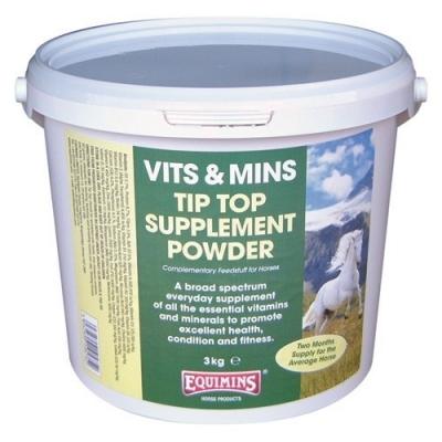 EQUIMINS Tip Top Suplement Powder- Mieszanka mineralno- witaminowa w proszku dla koni wyczynowych- 3kg