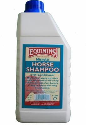 EQUIMINS Microlat Horse Shampoon - szampon antybakteryjny z odżywką 1000 ml